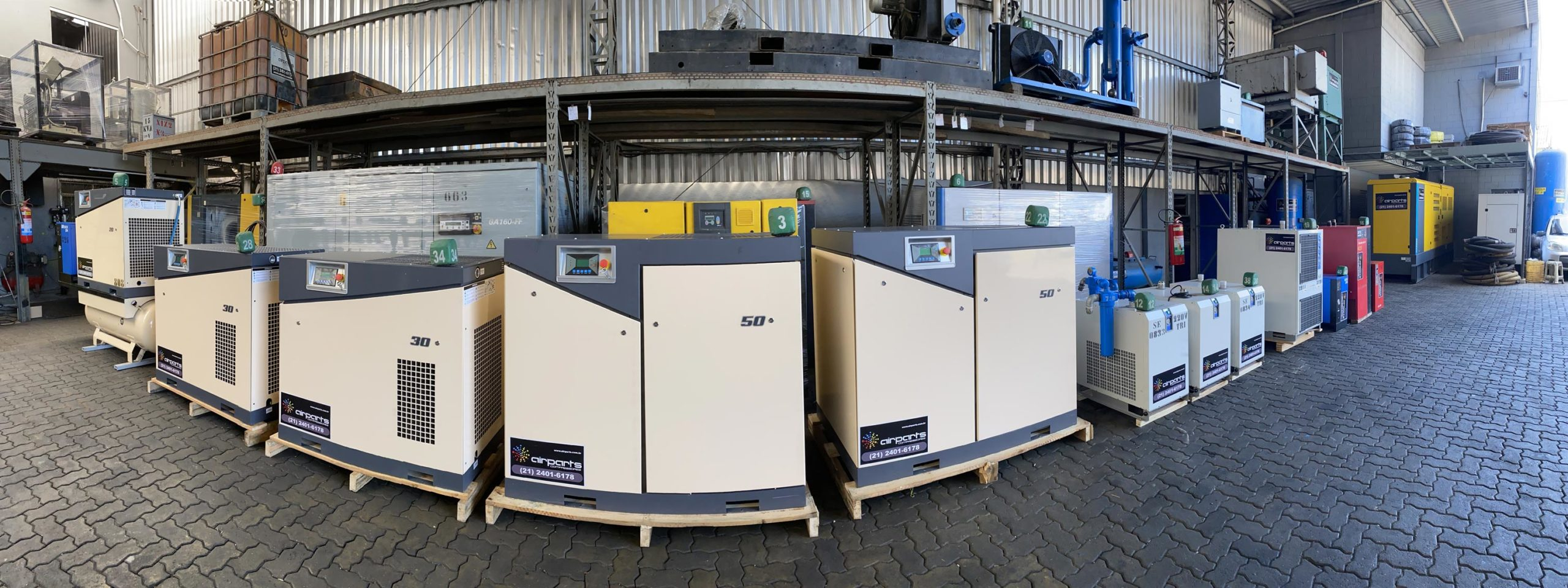 Aluguel de secadores de ar - Rental Parts